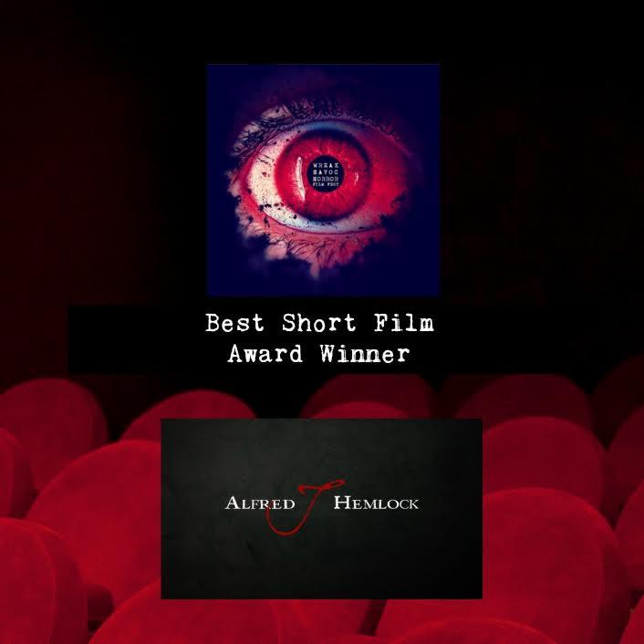 Alfred J Hemlock wins Best Short Film Wreak Havoc Horror Film Festival 2017