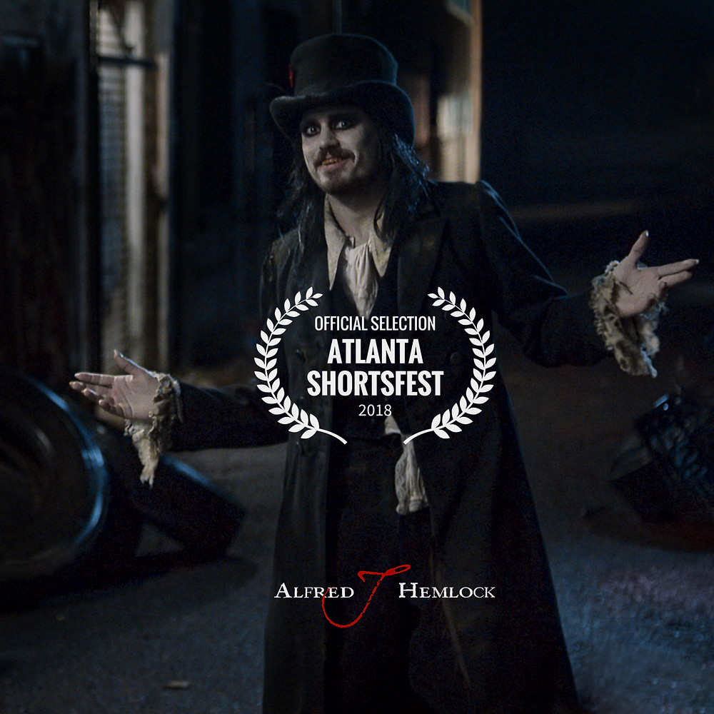 Alfred J Hemlock with Atlanta Shortfest Laurel