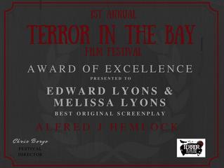 Alfred J Hemlock Wins Best Original Screenplay at the Terror In The Bay Film Festival