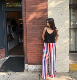Make a statement in these striped pants