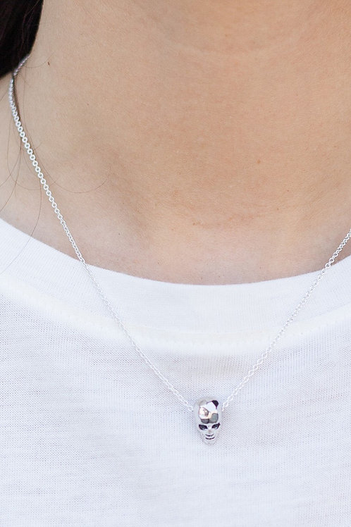 Handmade Skull Charm Necklace