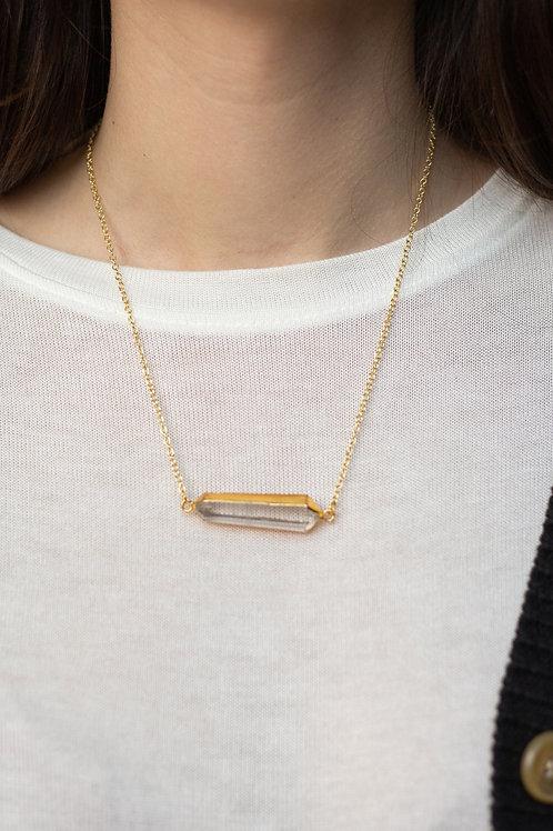 Handmade Semiprecious Stone Bar Necklace