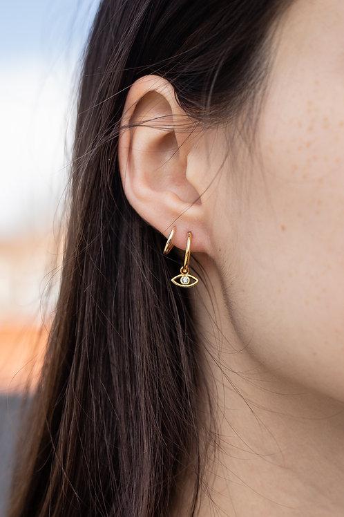 Evil Eye Huggie Hoop Earrings