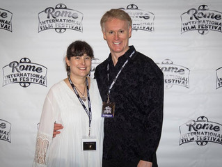 Melissa and Edward Lyons at Rome International Film Festival Opening Night