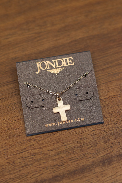 Gold Cross Dainty Necklace