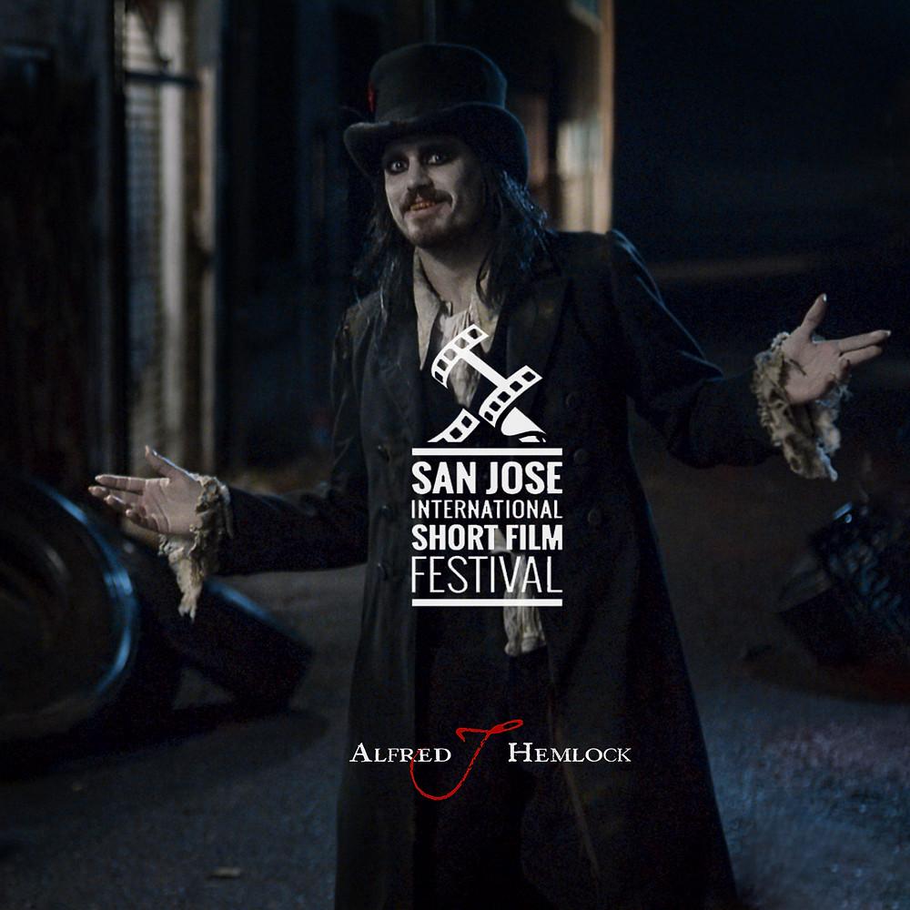 Alfred J Hemlock with San Jose International Short Film Festival Laurel