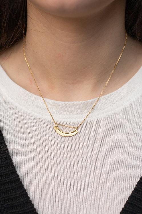Gold Filled Bent Bar Necklace