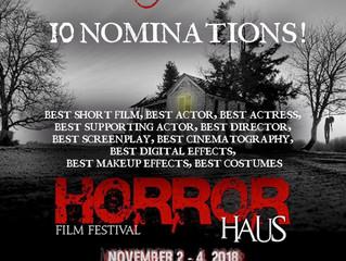 Alfred J Hemlock Nominated For 10 Awards at the Horror Haus Film Festival in LA