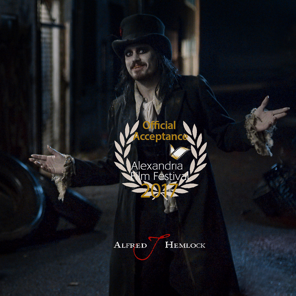 Alfred J Hemlock with Alexandria Film Festival Official Acceptance Laurel