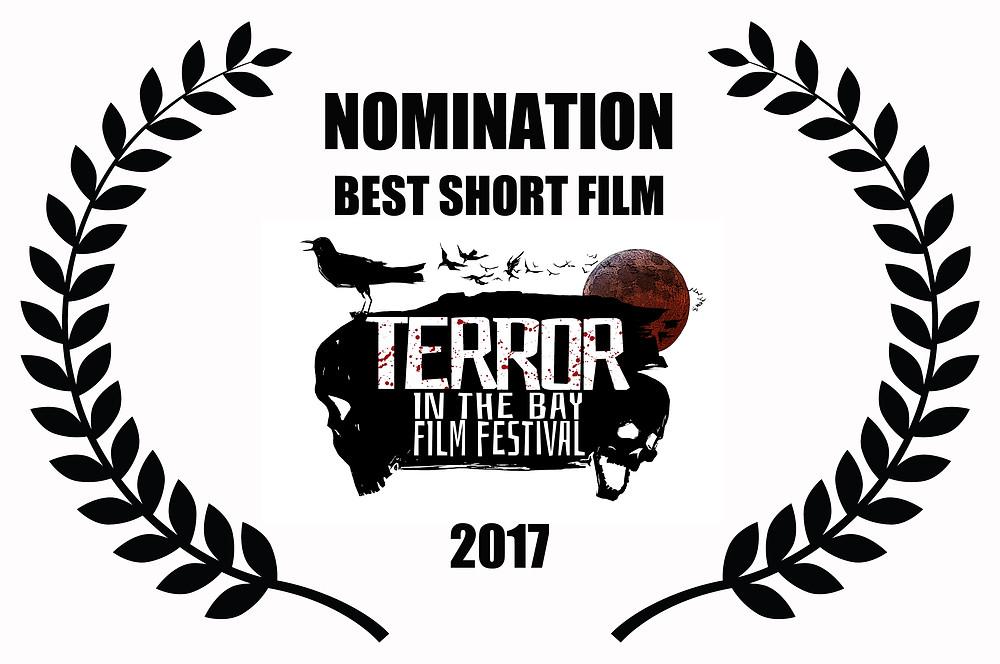 Alfred J Hemlock Nominated for Best Short Film at Terror in the Bay Film Festival 2017