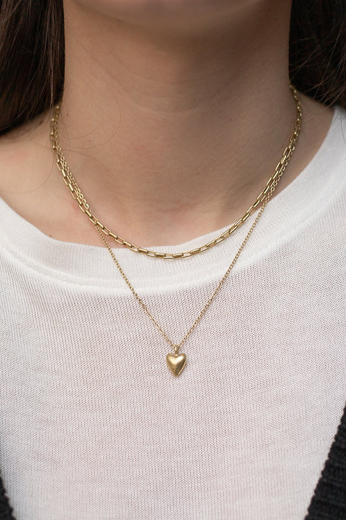 Heart Layered Chain Necklace