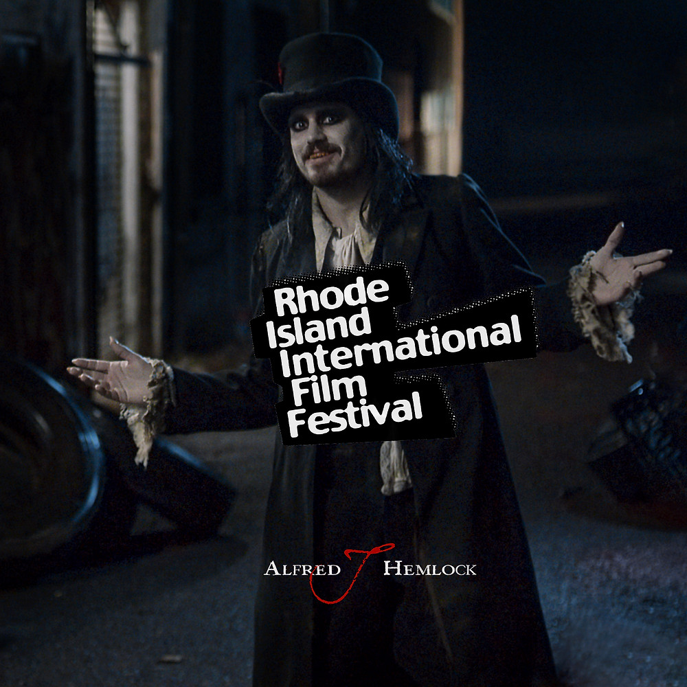 Alfred J Hemlock with Rhode Island International Film Festival Laurel