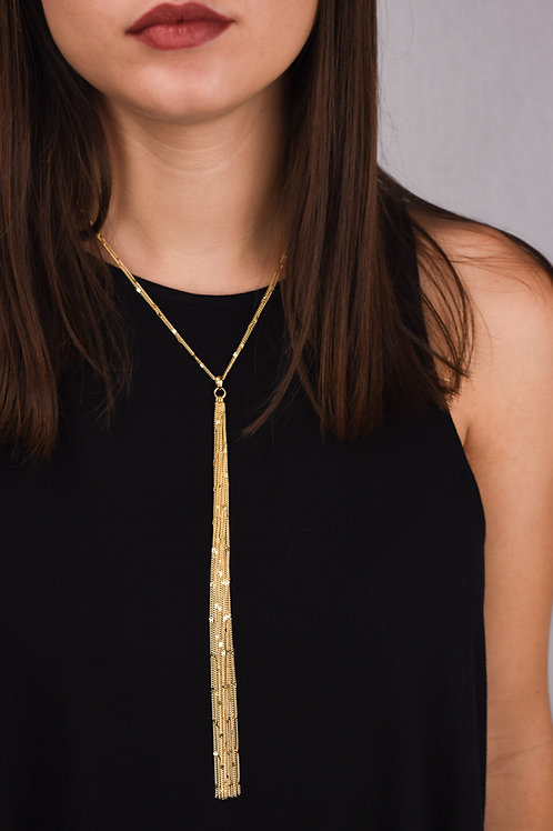 Multi-Chain Y Necklace