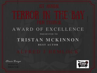 Tristan Mckinnon Wins Best Actor at the Terror In The Bay Film Festival