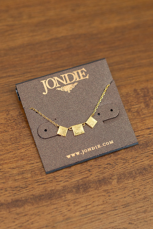 Triple Square Dainty Necklace