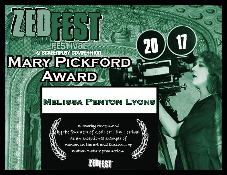 Alfred J Hemlock Melissa Lyons Wins Zed Fest Film Festival Mary Pickford Award