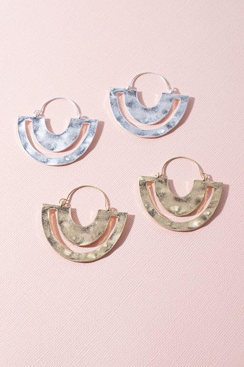 Gold or Silver Geometric Earrings