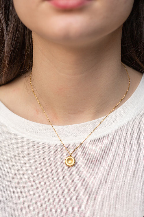 Gold Filled Circle Dainty Necklace