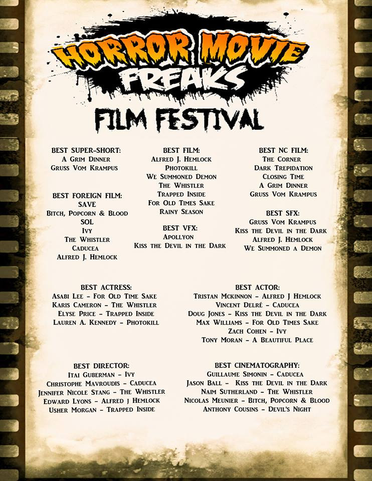 Alfred J Hemlock Nominations Horror Movie Freaks Film Festival