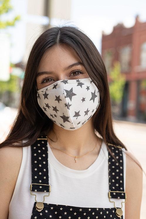 Star Printed Cloth Face Mask