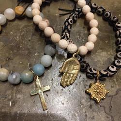 Handmade beaded charm bracelets made in