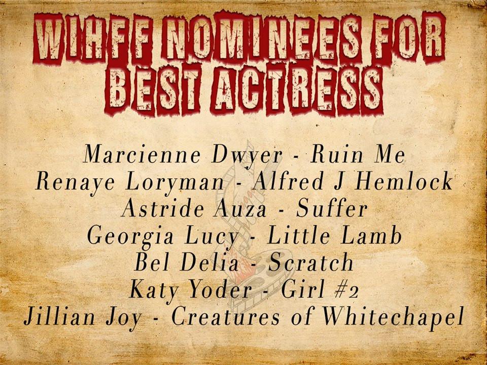 WIHFF Nomination Best Actress 2017 Renaye Loryman