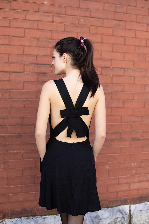 Black Dress with Bow Back