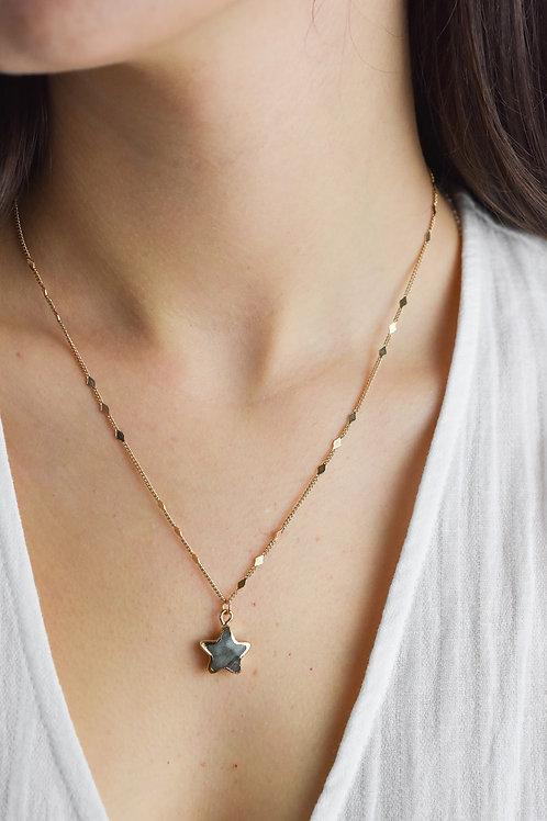 Semiprecious Stone Star Dainty Necklace