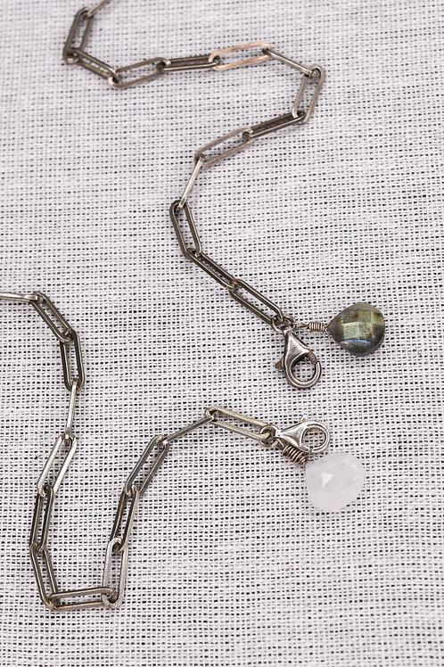 Handmade Sterling Silver Bracelet with Semiprecious Stones