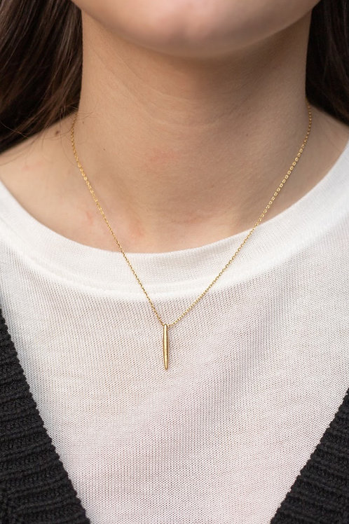 Gold Filled Spike Dainty Necklace