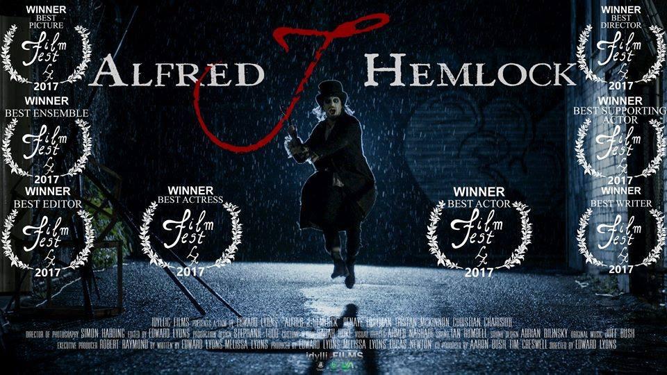 Alfred J Hemlock Movie Poster with Film Fest LA winning laurels