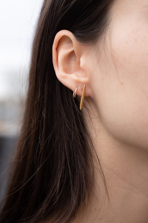 Gold Filled Bar Stud Earrings