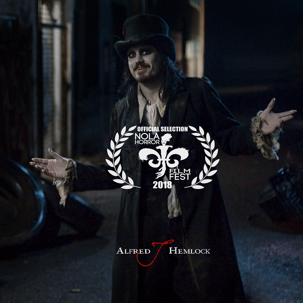 Alfred J Hemlock with NOLA Horror Film Fest Laurel