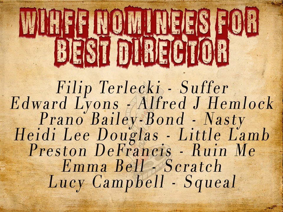 WIHFF Nominees for Best Director 2017