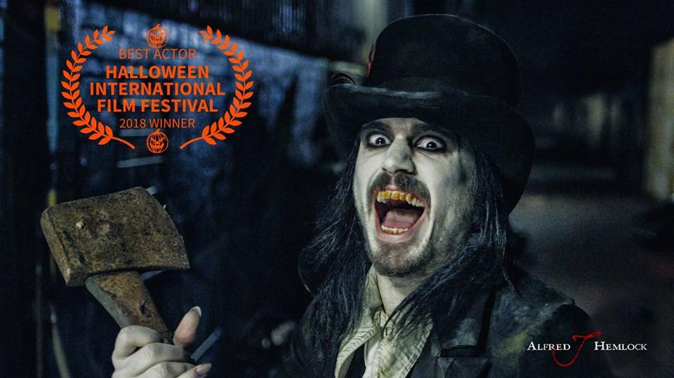 Film still of actor Tristan Mckinnon as Alfred J Hemlock