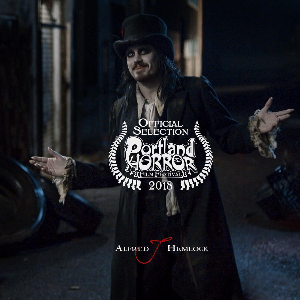 Alfred J Hemlock with Portland Horror Film Festival Laurel