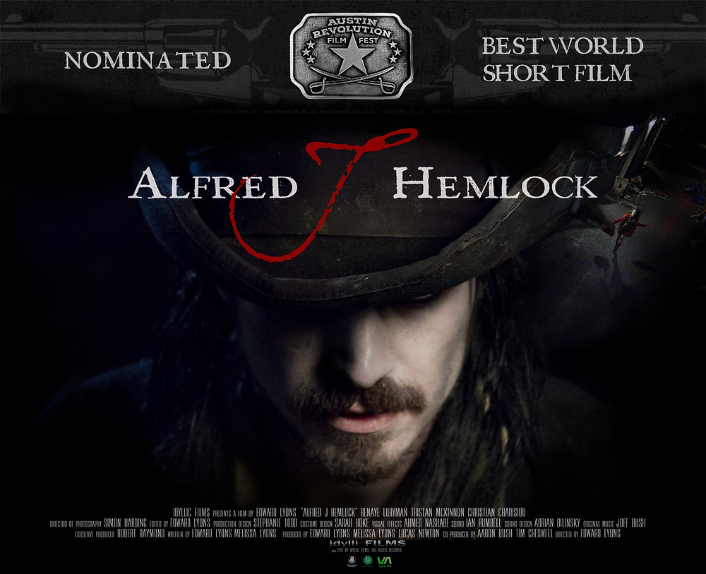 Alfred J Hemlock Poster with Nominated Best World Short Film at the top