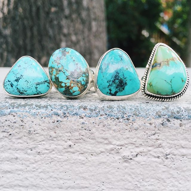 New turquoise rings 😍 Turquoise is a stone of protection and is said to be a stone of hope, discove