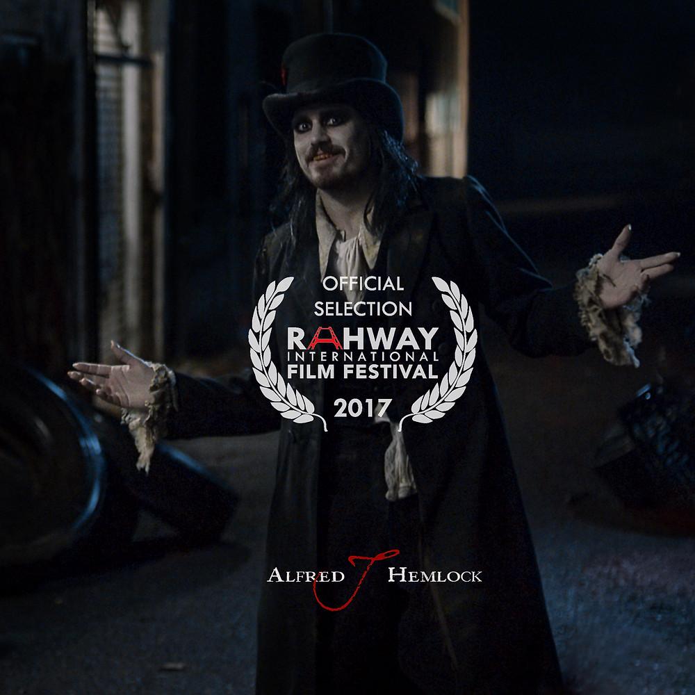 Alfred J Hemlock with Rahway Film Festival Laurel