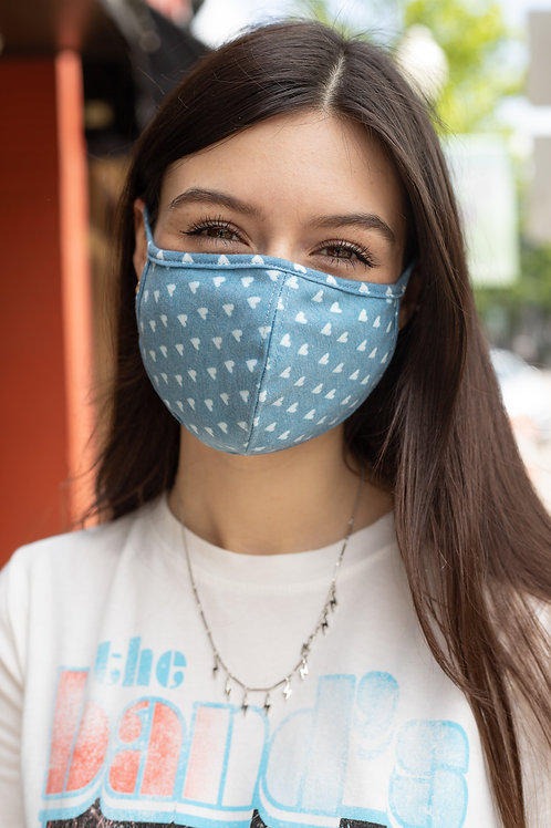 Heart Print Cloth Face Mask