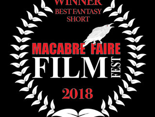 "Alfred J Hemlock wins ""Best Fantasy Short"" at Macabre Faire Film Festival"
