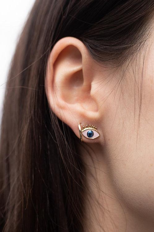 Eye Enamel Stud Earrings
