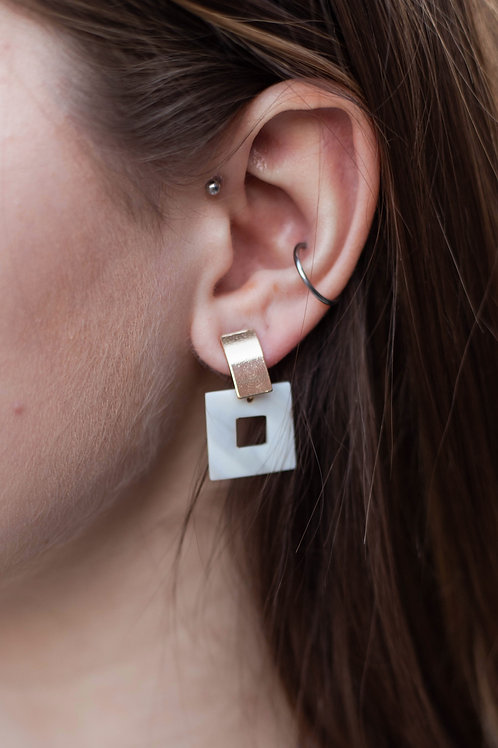 Square Acrylic Stud Earrings