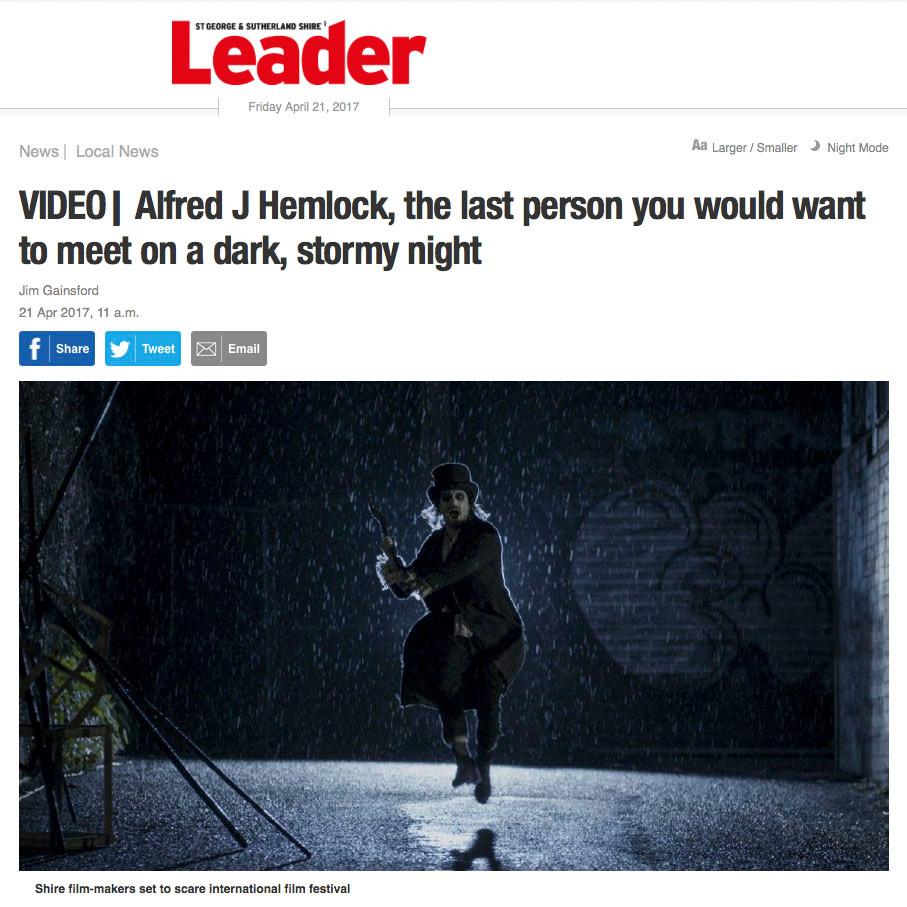 Leader Article on Alfred J Hemlock writers