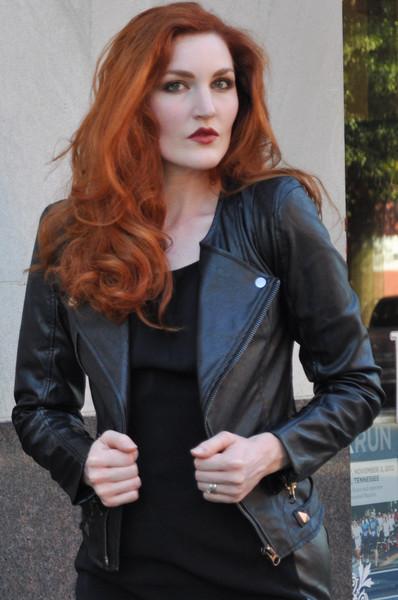 black biker jacket street style