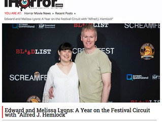 """iHorror Article """"A Year on the Festival Circuit with 'Alfred J Hemlock'"""""""
