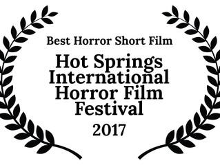 Alfred J Hemlock Wins Best Short Film at the Hot Springs International Horror Film Festival