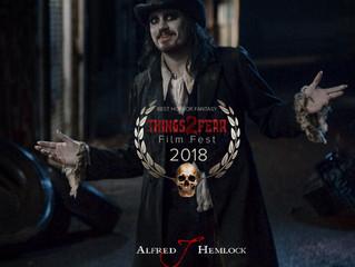 Alfred J Hemlock Wins Best Horror Fantasy at Things2Fear Film Festival