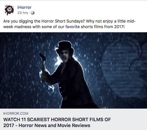 Alfred J Hemlock Running the rain with an axe of the cover of iHorror article