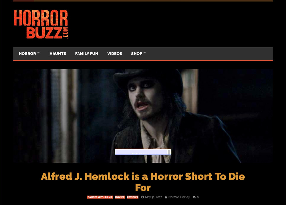 HorrorBuzz review. Picture of Alfred J Hemlock